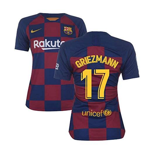 2019-2020 Barcelona Home Nike Ladies Football Soccer T-Shirt Trikot (Antoine Griezmann 17)
