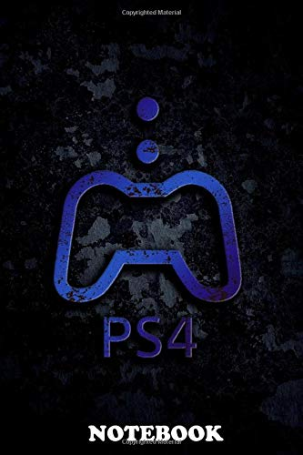 """Notebook: Playstation 4 Ps4 Logo , Journal for Writing, College Ruled Size 6"""" x 9"""", 110 Pages"""