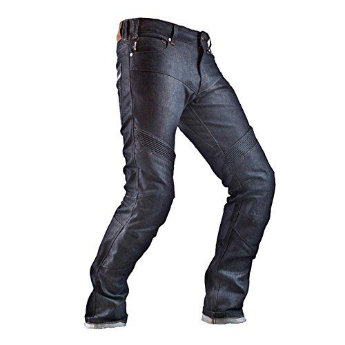 SHIMA Fukushima Gravity Cordura Classic Protections Homme Gusset Moto Jeans, Blue, Taille 38