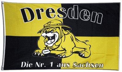 Flagge Fanflagge Dresden Bulldogge - 90 x 150 cm