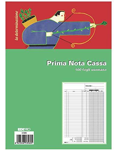 EDIPRO - E5356 - Blocco prima nota cassa 100 fogli uso mano (entrata - uscita - IVA) f.to 29,7x22
