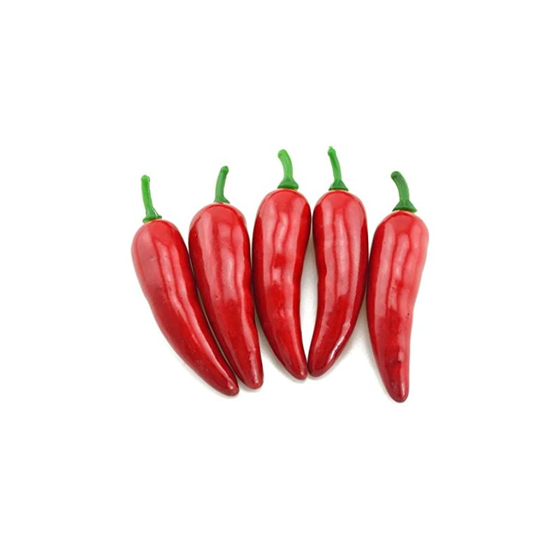 silk flower arrangements artificial mini pepper lifelike simulation chinese red pepper fake hot chili vegetable for home kitchen decor 30pcs set