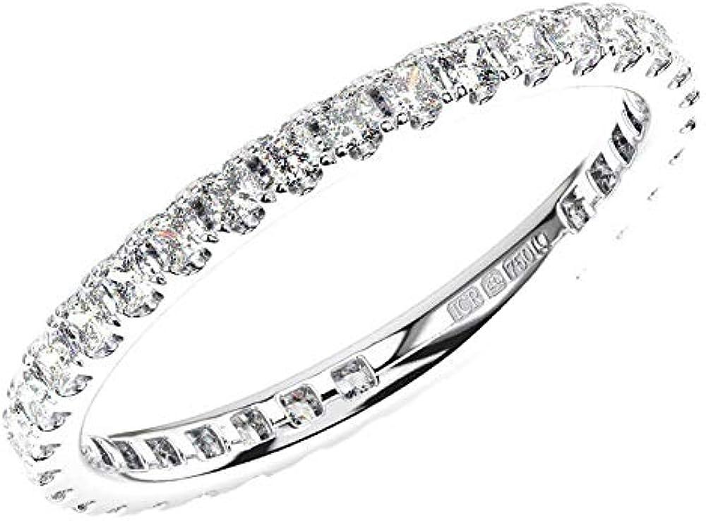 Anello eternity in platino 950 con diamanti da 1,00 ct DR0841