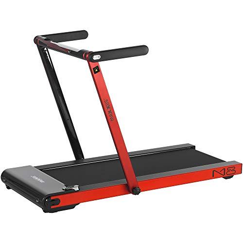 Maxxus Tapis roulant M8 elettrico con 124 x 45 cm battistrada 12 km/h + 5 CV – Cyclette con supporto tablet e controllo app, pieghevole, portata fino a 100 kg, rosso