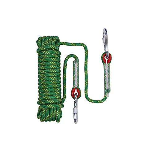 Cuerda de escalada estática de 12 mm de diámetro, cuerda de escalada de árbol, cuerda de paracaídas, tendedero, cuerda para mascotas 10 m