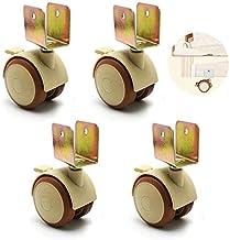 Zwenkwielen wielen trolleywielen 2 inch zwenkwielen met rem 4 verpakkingen | Rubberen zwenkwielen Stilte met U-beugel voor...