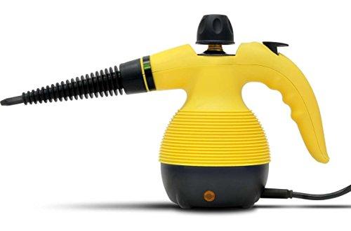 高温スチームクリーナー 高圧洗浄機 ハンディタイプ 軽量1kg タンク式 オプションノズル5種 9つの付属品 強力洗浄 洗剤不要 セーフティロック付き VS-YQ384O メーカー保証1年間 返金保証