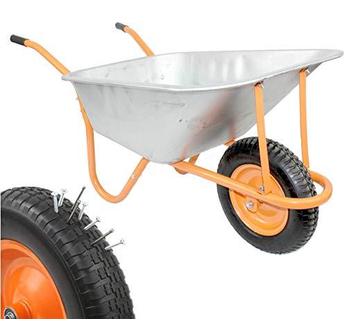 New DJM Heavy Duty Galvanised Steel Garden Wheelbarrow