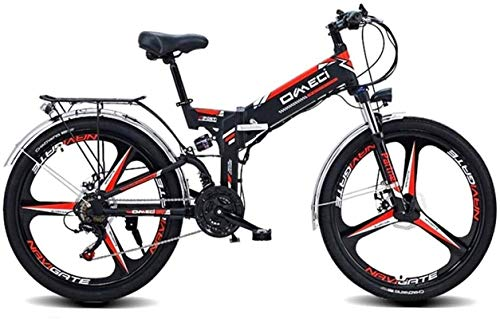 RDJM Ebikes, Fast Electric Bikes for Adults 26' Electric Mountain Bike, Adult Electric Bicycle/Commute Ebike with 300W Motor, 48V 10Ah Battery, Professional 21 Speed Transmission Gears