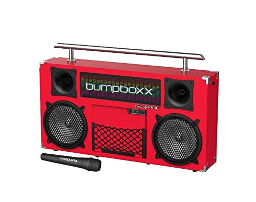 Bumpboxx Bluetooth Boombox Freestyle V3s Red | Retro Boombox with Bluetooth Speaker | Rechargeable Bluetooth Speaker