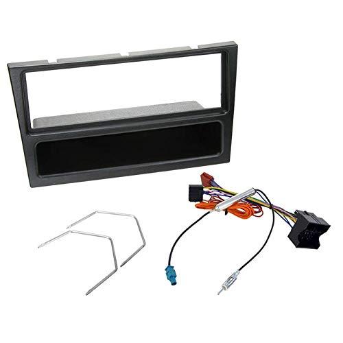 Sound Way - Kit Montage Adaptateur Cadre de Radio façade autoradio 1 DIN Opel Agila/Corsa/Omega/Vivaro/Astra/Vectra