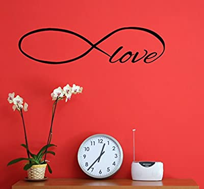 Wall Decor Plus More Infinity Love Wall Decal Sticker for Home Decor