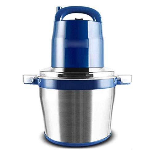 Adesign Amoladora de Carne eléctrica, procesador de Alimentos 6L, Mini franqueza de Alimentos con 2 velocidades y tazón de Acero Inoxidable para Carne, Vegetal, Frutas, nueces, Cebolla, (1200W)