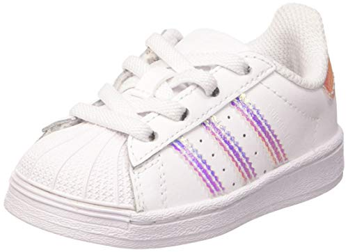adidas Unisex-Kinder Superstar El I Sneaker, Weiß (Ftwr White/Ftwr White/Ftwr White), 26 EU