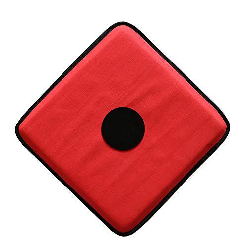 LEONARK Zaun-Zielscheibe mit fünf Bullseye – selbsttrainierendes Schwert-Ziel – Heimzaun-Ausrüstung für Kinder und Erwachsene, rot