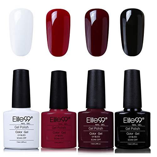 Elite99 UV Nagellack Nail Gel Polish Farbgel Nagelgel Regenbogen Effekt(5x Stuecke)