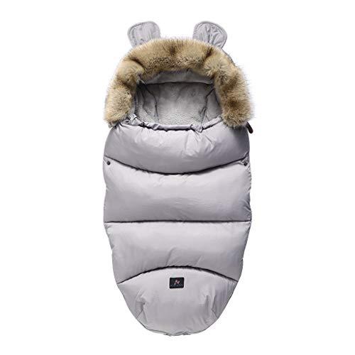 SUCHUANGUANG Saco de Dormir para Cochecito de bebé, Saco de Dormir cálido de Invierno, Bata para bebé recién Nacido, Saco de Dormir para bebé, Gris