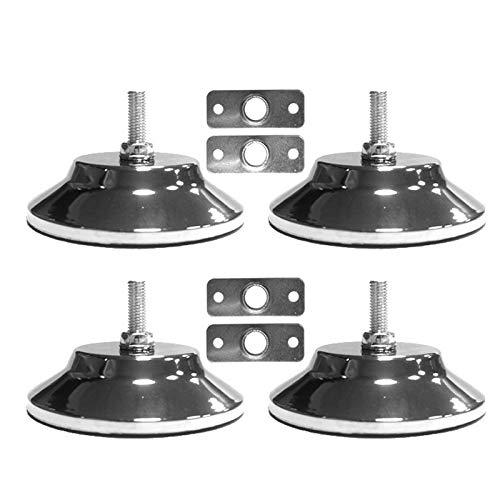 Kuinayouyi 4 piezas Niveles de mesa de billar / billar de 5 pulgadas Niveles de mesa de juego de metal resistentes para mesa de billar