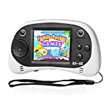 EASEGMER Kids Portable Handheld Game Console - RS-8X 16 Bit HD Game Player Built-in 42 Games with 2.5 Inch LCD Screen Handheld Rechargeable Gaming System Best Gifts for Children & Family(White)