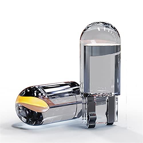 ScottDecor Lámpara 4 unids Borrar LED W5W T10 COB Veste Coche Bulb 6000K Blanco Auto Automóviles Lámpara Lámpara Lámpara Ligera Lectura DRL Estilo 12V (Emitting Color : White)
