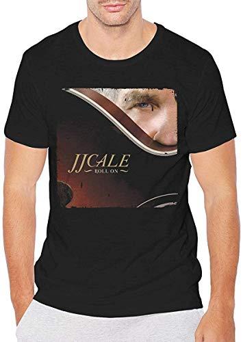 Kdloes J.J. Cale Roll On Mens Top Classic Basic Short Sleeve Tshirt Black,5X-Large