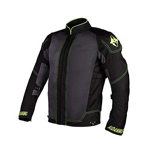JIAOJIAO Abbigliamento da Motociclista Giacche da Corsa Giacche da Moto Tuta da Motocross off Road-Green_M