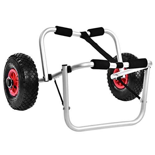 RUIXFEC Carro Plegable para Kayak, Porta Canoa con Marco De Aluminio, Carro De Aluminio Resistente