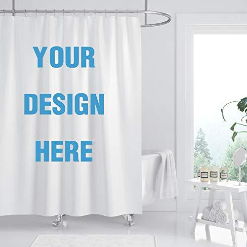 Eigener Duschvorhang,personalisierter Bilder-Duschvorhang, Produktion und Design im Einklang mit ihrem eigenen Stil, dicker wasserdichter Stoff (benutzerdefiniert, 179,8 x 179,8 cm)