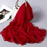 DSHRTYModa Marca Tinta Unita Sciarpe in Chiffon per Signora Inverno Testa Collo Scialli Hijab Sezione Sottile Elegante Sciarpa Femminile, DK009,4 Scialle