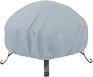 Fire Pit Cover Outdoor Stroage Waterproof Fireplace Chiminea Covers Oxford Fabric with Drawstring Fire Bowl Porch Shield B...
