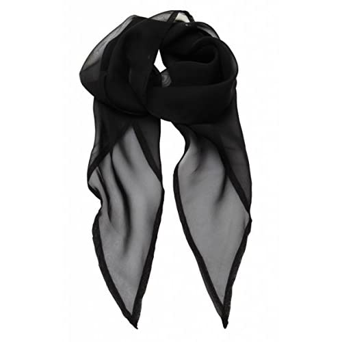 3e3204d02 50s Plain Black Neck Scarf Chiffon Style Perfect Fancy Dress Accessory -  Ideal for a Grease