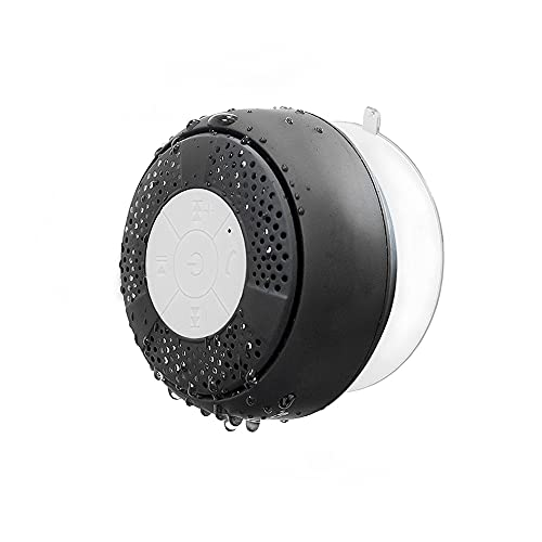 Bluetooth Shower Speaker, Water Resistant Wireless bluetooth Speaker (Build-in Microphone, Solid Suction Cup, 6 hrs Play Time)