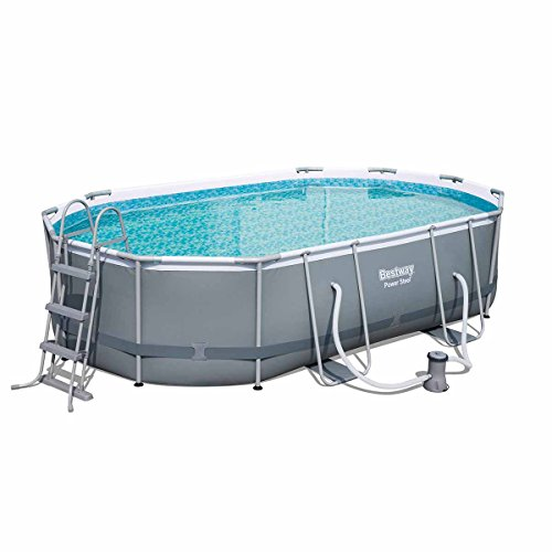 Höfer Chemie® Pool Power Steel ovalado Pool Set 488 x 305 x 107 cm, marco...