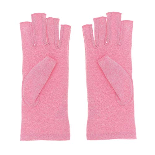 SUPVOX guantes de artritis de compresión para mujeres hombres síntomas de artritis transpirable enfermedad de raynauds enfermedad soporte de manos (rosa) talla s