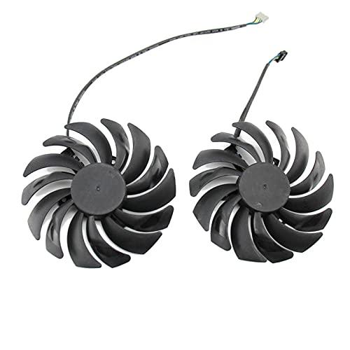 PLD10010B12HH DC12V 0.40A 4PIN RTX 2070 2070super Fan para MSI para GeForce RTX2070 Super Armor OC Tarjeta de gráficos Fan (Blade Color : 2PCS)