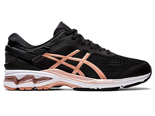 ASICS Men's Gel-Kayano 26 Running Shoes, 14, Black/Rose Gold