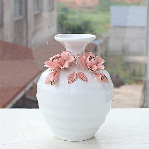 Vaso Vaso d Arte Bianco Artigianato in Ceramica Soggiorno Organizzazione Armadietto per Vino Decorazione della Casa Composizione Floreale Creativa H