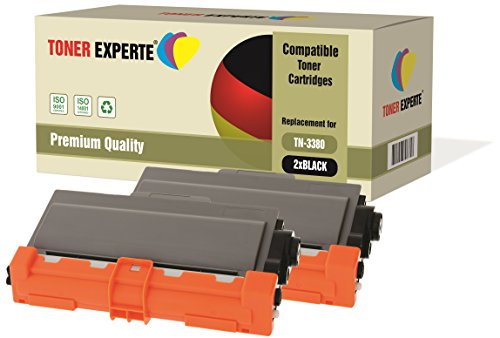 Pack de 2 TONER EXPERTE® Compatibles TN3380 Cartuchos de Tóner Láser para Brother HL-5440D HL-5450D HL-5450DN HL-5470DW HL-5480DW HL-6180 HL-6180DW MFC-8510DN MFC-8520DN MFC-8950DW DCP-8110DN DCP-8250