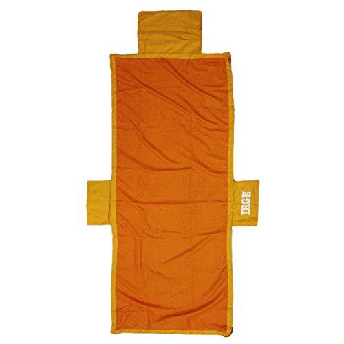 Russo Tessuti Telo Mare Piscina Microfibra Coprilettino Cuscino Gonfiabile Elastici Tasche -Arancione