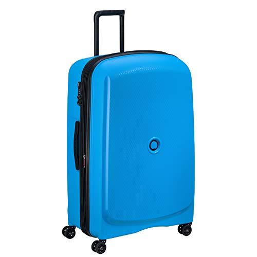 DELSEY Paris Belmont Plus Maleta, 82 cm, 123.3 litros, Azul Metalico