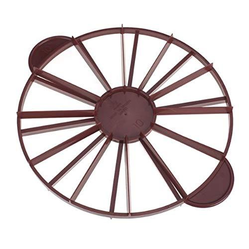 10 – 12 piezas de separador de pan para tartas – plástico de doble cara igual porción cortador Slice marcador (redondo)
