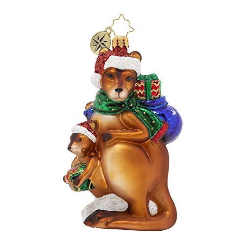 Christopher Radko Hand-Crafted European Glass Christmas Ornament, Kangaroo Kristmas