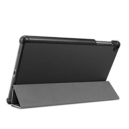 Fintie Hülle für Samsung Galaxy Tab A 10,1 T510/T515 2019 - Ultra Schlank Superleicht Kunstleder Schutzhülle Cover Case mit Standfunktion für Samsung Galaxy Tab A 10.1 Zoll 2019 Tablet, Schwarz