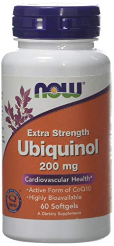 Now Foods Ubiquinol Softgels, 200 mg, 60-Count