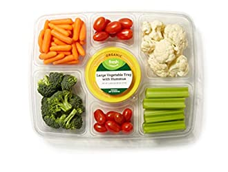 Fresh Brand – Large Vegetable Tray with Hummus, 38 oz