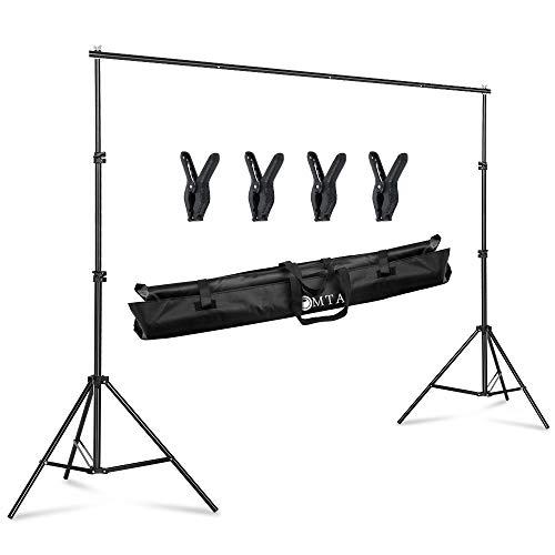 LOMTAP 背景スタンド200*300cm 写真撮影用背景スタンド 4*背景布クリップ 調整可能な高さと幅 撮影スタジオ 装置簡単 便利な収納 自宅或いはスタジオでの小型・中型・大型の撮影に適切なサイズ