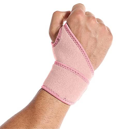 ANYURAN Muñequera 1PCS, Férula de compresión Reversible del estabilizador de la muñeca del Pulgar Correa de compresión de la muñeca y férula del Pulgar para la Artritis,Rosado