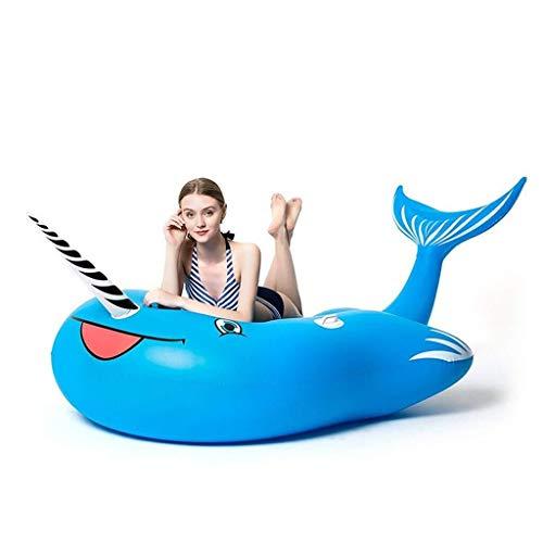 LCSD Juguetes inflables de la Piscina Flotador for Piscina, balsa Inflable Gigante, pontón de natación de PVC, Tumbona de Playa, 230x110x130cm