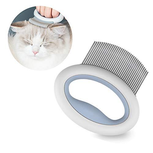 Eonpet Katzenkamm, Katzenbürste, Katzenhaar-Massage-Bürste, Hunde und Katzen, Fellpflege, Kamm,...