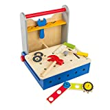 WOOMAX - Caja herramientas de madera plegable (ColorBaby 46216)